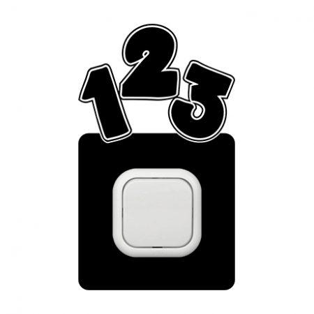 123 kapcsoló védőmatrica
