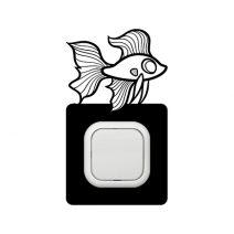 Aranyhal kapcsoló védőmatrica
