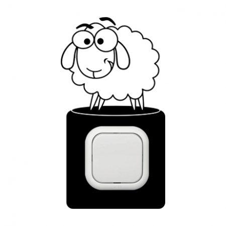 Bárány kapcsoló védőmatrica