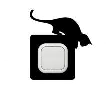 Cica ugrásra készen kapcsoló védőmatrica