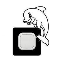 Delfin kapcsoló védőmatrica