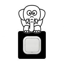 Elefánt szemből kapcsoló védőmatrica