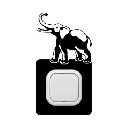 Elefánt szerencsehozó kapcsoló védőmatrica