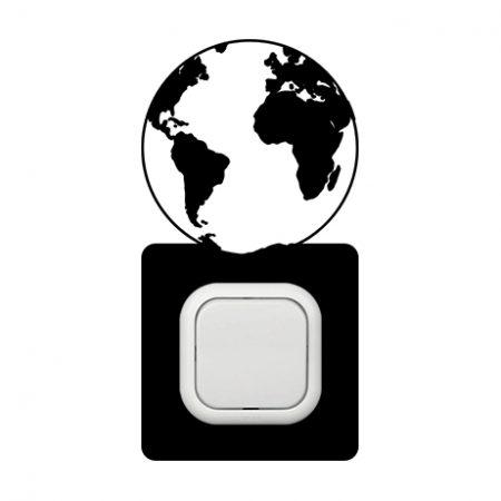 Föld kapcsoló védőmatrica