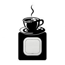 Kávé kapcsoló védőmatrica