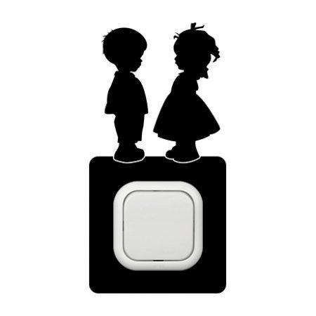 Gyerekek  kapcsoló védőmatrica
