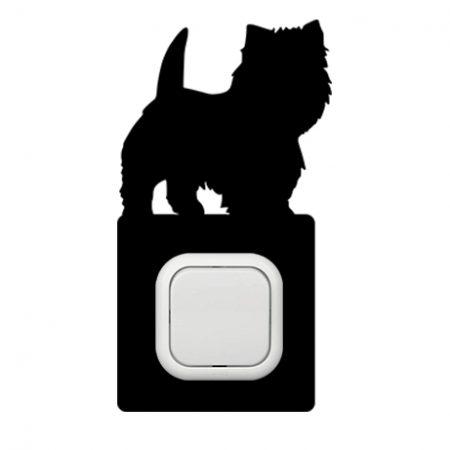 Kutyus álló kapcsoló védőmatrica