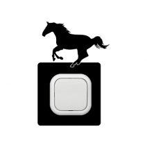 Ló futó kapcsoló védőmatrica