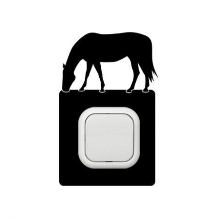Ló legelő kapcsoló védőmatrica