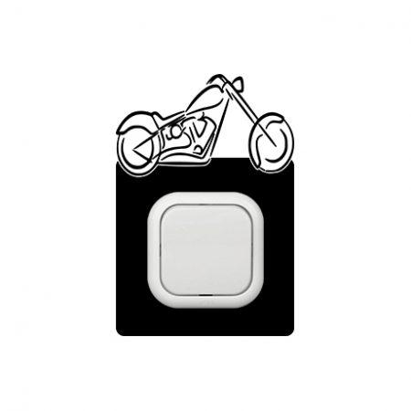 Motoros kapcsoló védőmatrica