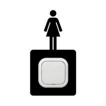 Női kapcsoló védőmatrica