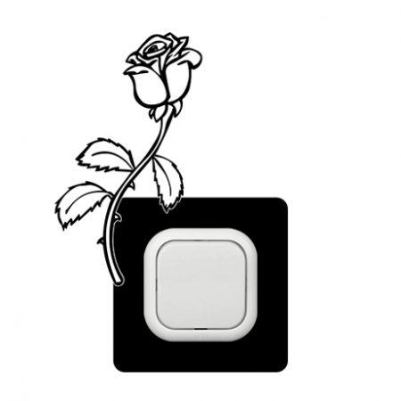 Rózsa kapcsoló védőmatrica