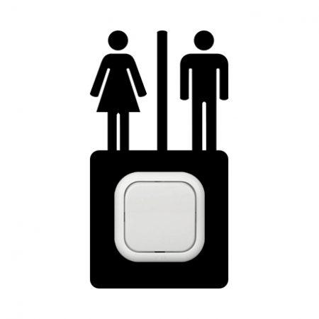 WC kapcsoló védőmatrica
