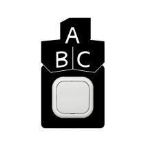 ABC kapcsoló védőmatrica