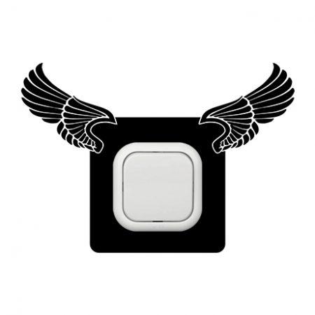 Angyali szárnyak kapcsoló védőmatrica