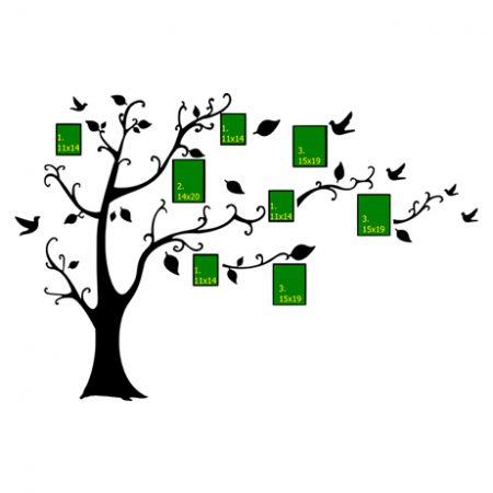 Álló fa és madarak – fényképes falmatrica
