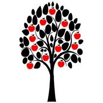 Családi gyümölcsfa - fényképes falmatrica