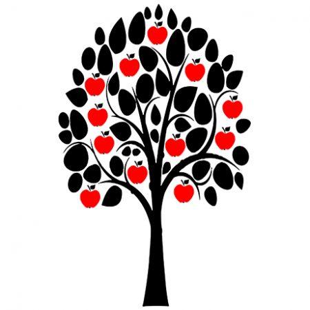 Családi gyümölcsfa – fényképes falmatrica