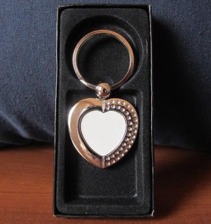 Fém kulcstartó szív 2