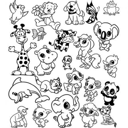 Állatkert falmatrica 23 állattal