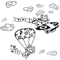 2 maci repülővel falmatrica
