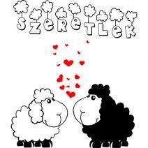 Bárányok falmatrica