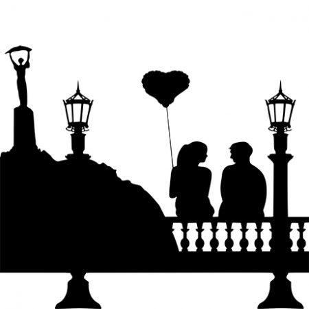Budapesti pár falmatrica
