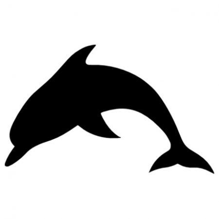 Delfin sziluett autó matrica