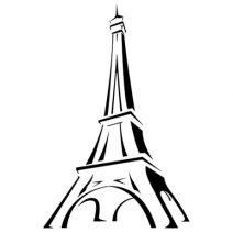 Eiffel torony autó matrica