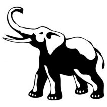 Elefánt szerencsehozó autó matrica