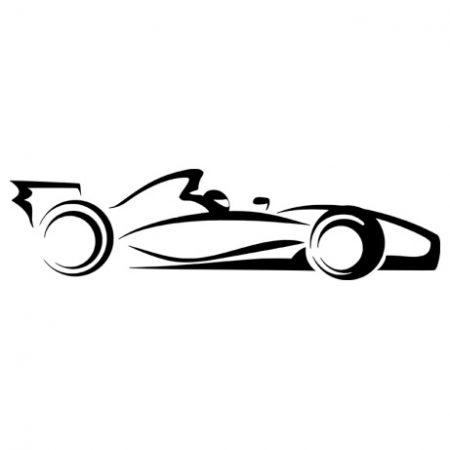 F1 autó matrica