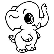 Kis elefánt 2 autó matrica
