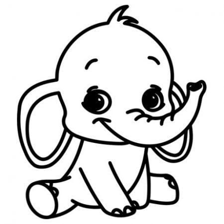 Kis elefánt autó matrica