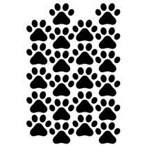 Kutya tappancsok autó matrica