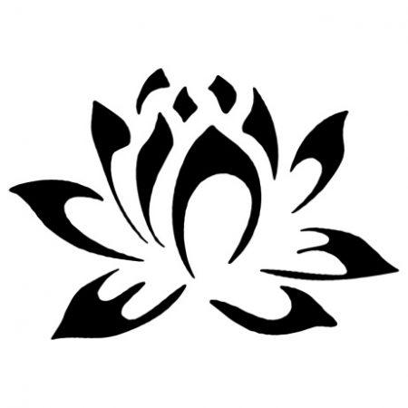 Lótusz virág autó matrica