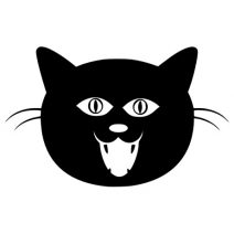 Macska fej autó matrica