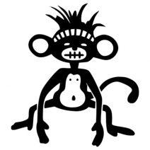 Bennszülött majom autó matrica