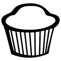 Muffin autó matrica