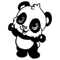 Panda autó matrica