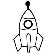 Rakéta autó matrica