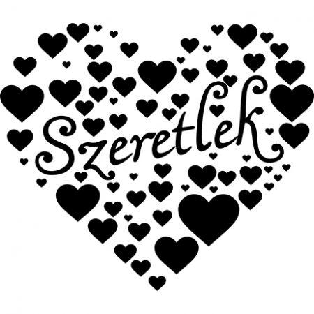 Szíves szív falmatrica