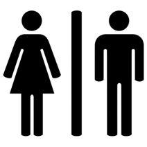 Nő és Férfi autó matrica