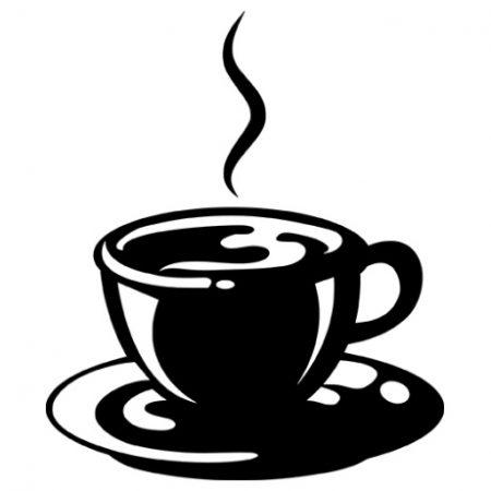 Kávé autó matrica