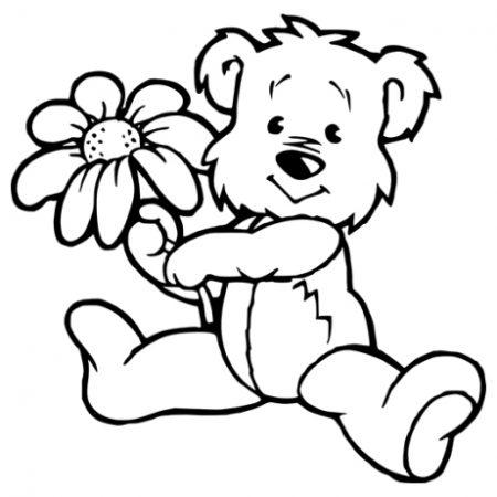 Maci virággal falmatrica